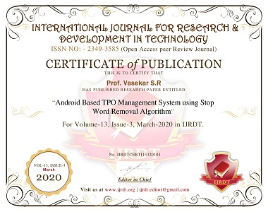 9IJRDT-CERTIFICATE Android Based TPO Management System using Stop Word Removal Algorithm-1