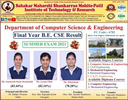 BE CSE TOPPERS 2020-21